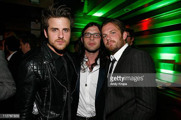 Jared Followill Nathan Followill and Caleb Followill of Kings of Leon attend the Tribeca Film Festival afterparty for Talihina Sky hosted by Heineken...