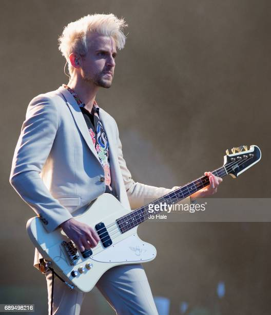 Jared Followill of Kings of Leon headlines and performs on stage on Day 2 of BBC Radio 1's Big Weekend 2017 at Burton Constable Hall on May 28 2017...