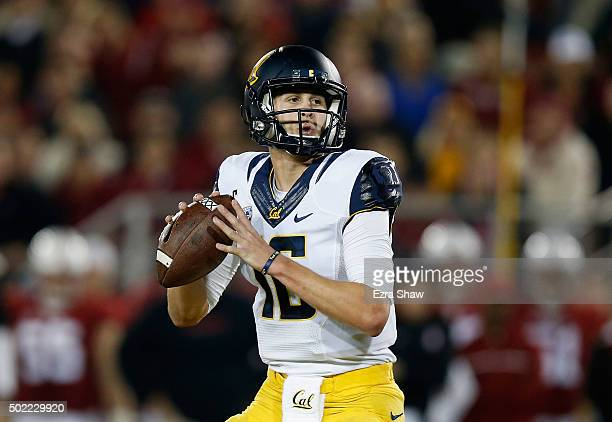 Jared Goff of the California Golden Bears in action against the Stanford Cardinal at Stanford Stadium on November 21 2015 in Palo Alto California