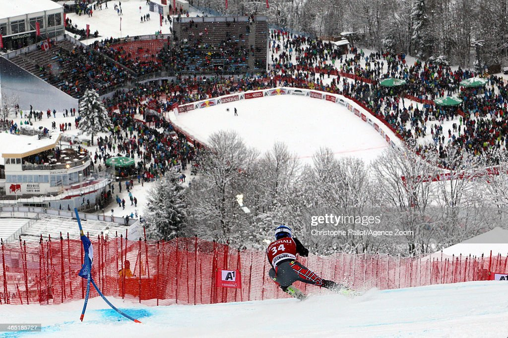 Jared Goldberg of the USA competes during the Audi FIS Alpine Ski World Cup Men's SuperG on January 26 2014 in Kitzbuehel Austria