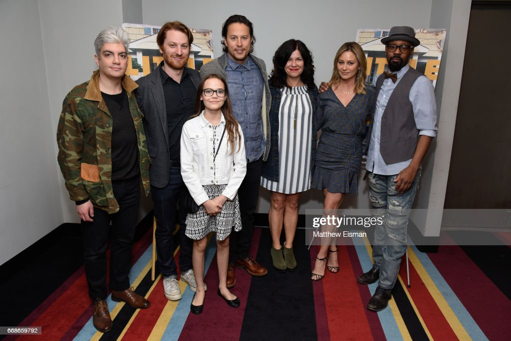 Jared Goldman, Rob Meyer, Oona Laurence, Cary Joji Fukunaga, Annie J. Howell, Christine Taylor and Nelsan Ellis attend the 'Little Boxes' New York Screening at Village East Cinema on April 14, 2017 in New York City.