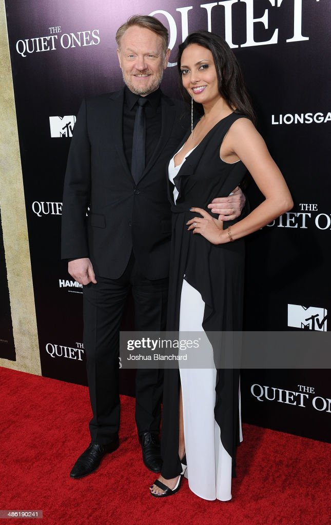 <a gi-track='captionPersonalityLinkClicked' href=/galleries/search?phrase=Jared+Harris&family=editorial&specificpeople=228170 ng-click='$event.stopPropagation()'>Jared Harris</a> (L) and Allegra Riggio arrive at the premiere of Lionsgate Films' 'The Quiet Ones' at the Theatre At Ace Hotel on April 22, 2014 in Los Angeles, California.
