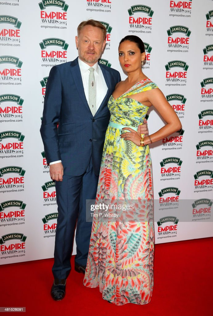 <a gi-track='captionPersonalityLinkClicked' href=/galleries/search?phrase=Jared+Harris&family=editorial&specificpeople=228170 ng-click='$event.stopPropagation()'>Jared Harris</a> and Allegra Riggio attend the Jameson Empire Awards 2014 at the Grosvenor House Hotel on March 30, 2014 in London, England. Regarded as a relaxed end to the awards show season, the Jameson Empire Awards celebrate the film industry's success stories of the year with winners being voted for entirely by members of the public. Visit empireonline.com/awards2014 for more information.