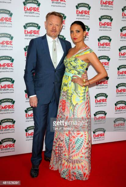 Jared Harris and Allegra Riggio attend the Jameson Empire Awards 2014 at the Grosvenor House Hotel on March 30 2014 in London England Regarded as a...