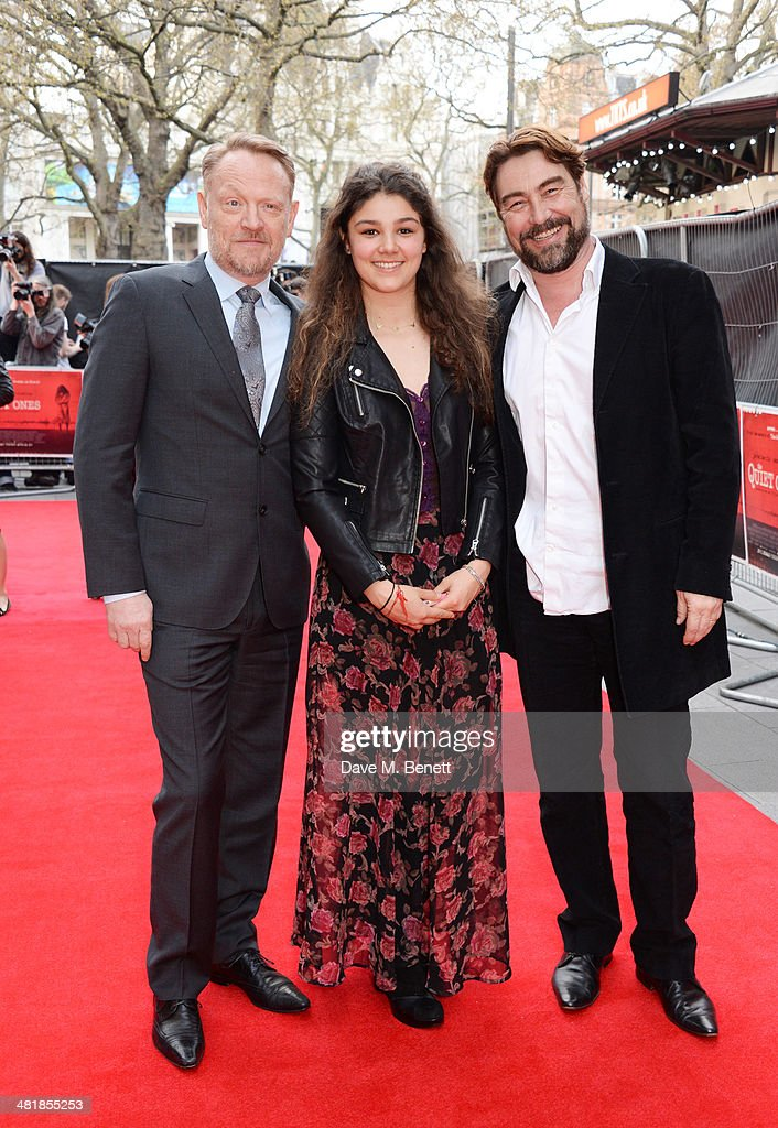 <a gi-track='captionPersonalityLinkClicked' href=/galleries/search?phrase=Jared+Harris&family=editorial&specificpeople=228170 ng-click='$event.stopPropagation()'>Jared Harris</a>, Raphaella Parker and Nathaniel Parker attend the World Premiere of 'The Quiet Ones' at the Odeon West End on April 1, 2014 in London, England.