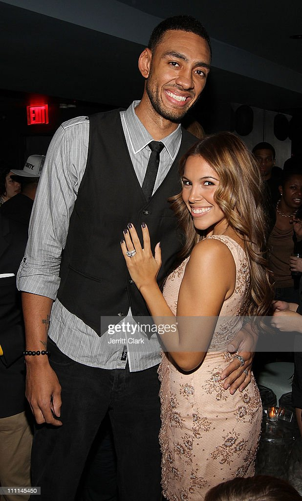 Jared Jeffries and wife Jenni Jeffries attend a Japan Disaster Fundraiser at Polar Lounge on March 29, 2011 in New York City.