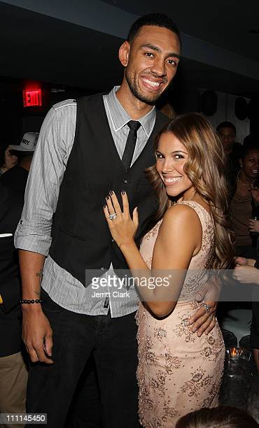 Jared Jeffries and wife Jenni Jeffries attend a Japan Disaster Fundraiser at Polar Lounge on March 29 2011 in New York City