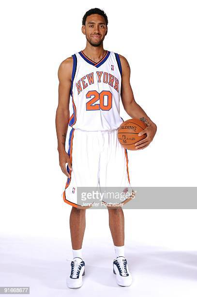 Jared Jeffries of the New York Knicks poses for a portrait during 2009 NBA Media Day on September 28 2009 at the New York Knicks Practice Facility in...