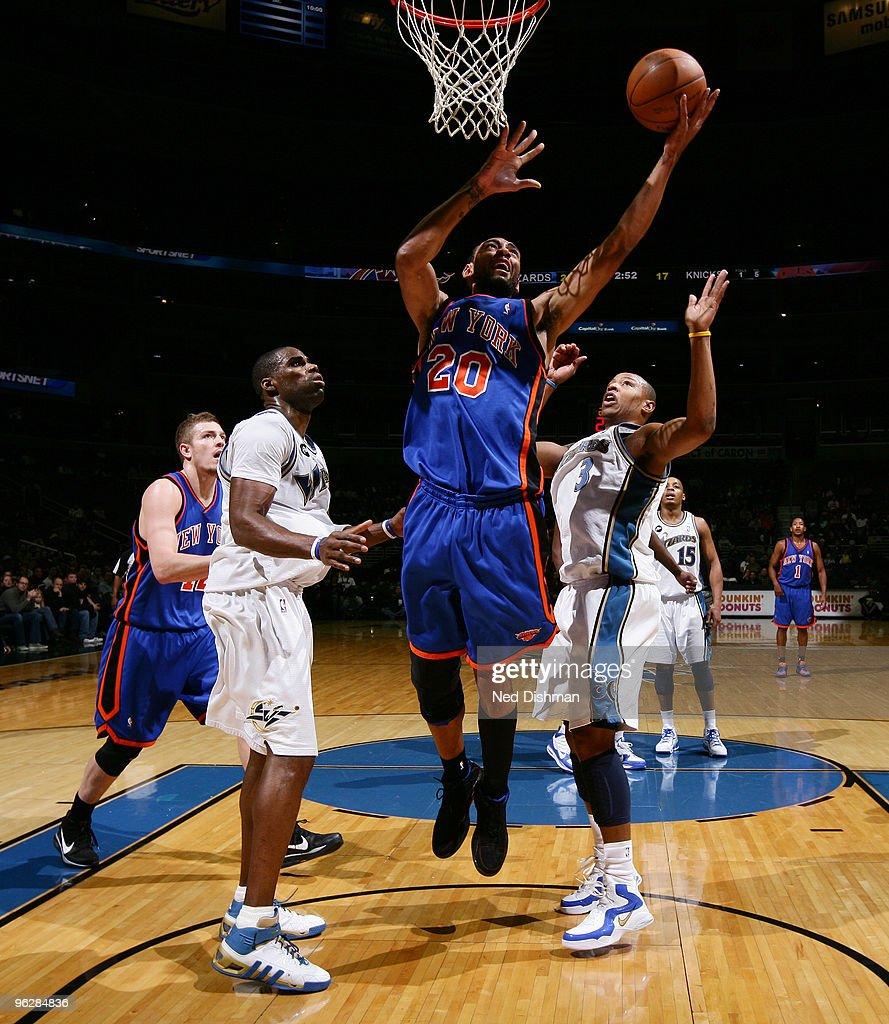 New York Knicks v Washington Wizards s and