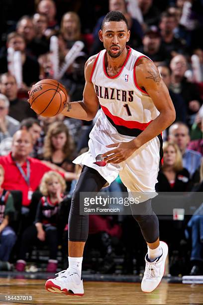 Jared Jeffries of the Portland Trail Blazers controls the ball against the Golden State Warriors during a preseason game on October 19 2012 at the...