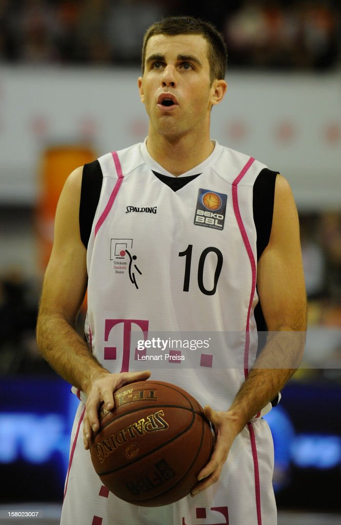 Jared Jordan of Bonn shoots during the Beko Basketball match between FC Bayern Muenchen and Telekom Baskets Bonn at Audi-Dome on December 9, 2012 in Munich, Germany.