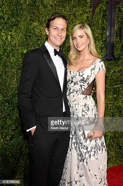 Jared Kushner and Ivanka Trump attend the 2015 Tony Awards at Radio City Music Hall on June 7 2015 in New York City