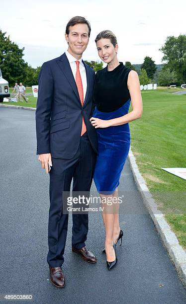 Jared Kushner and Ivanka Trump attend the 9th Annual Eric Trump Foundation Golf Invitational Auction Dinner at Trump National Golf Club Westchester...