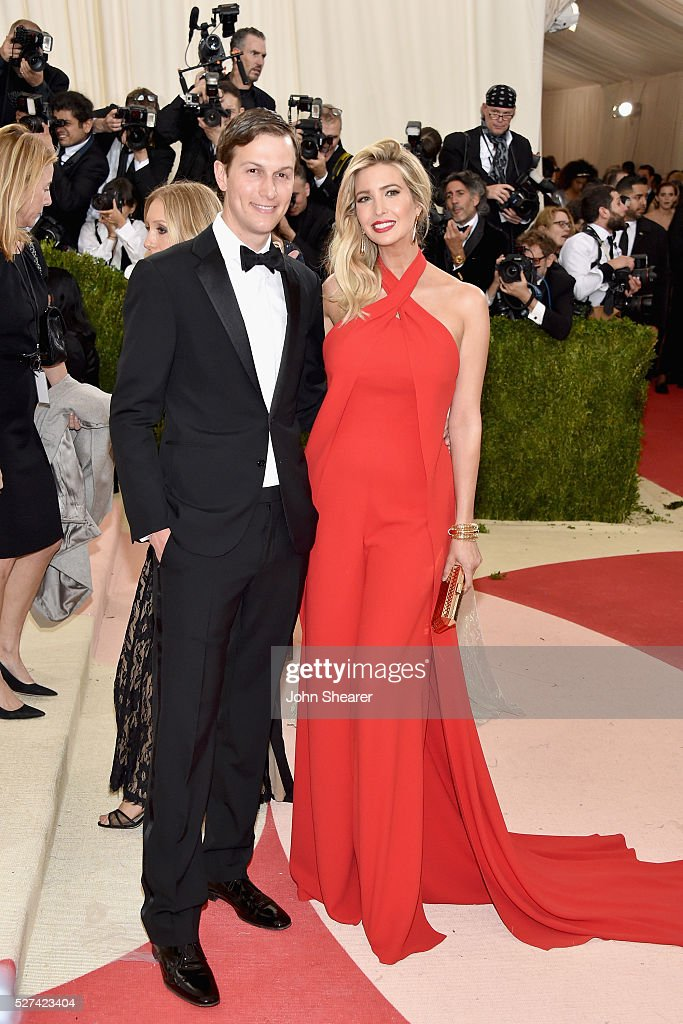 <a gi-track='captionPersonalityLinkClicked' href=/galleries/search?phrase=Jared+Kushner&family=editorial&specificpeople=1498420 ng-click='$event.stopPropagation()'>Jared Kushner</a> (L) and <a gi-track='captionPersonalityLinkClicked' href=/galleries/search?phrase=Ivanka+Trump&family=editorial&specificpeople=159375 ng-click='$event.stopPropagation()'>Ivanka Trump</a> attend the 'Manus x Machina: Fashion In An Age Of Technology' Costume Institute Gala at Metropolitan Museum of Art on May 2, 2016 in New York City.