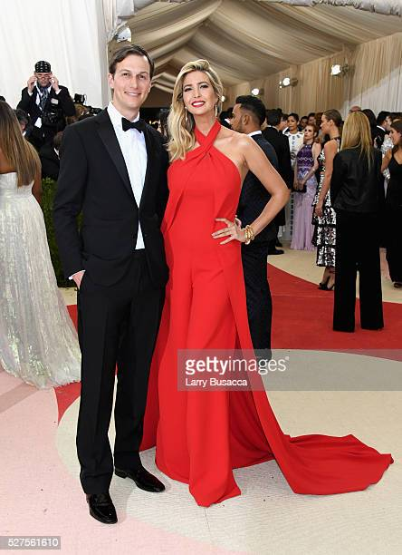 Jared Kushner and Ivanka Trump attend the 'Manus x Machina Fashion In An Age Of Technology' Costume Institute Gala at Metropolitan Museum of Art on...