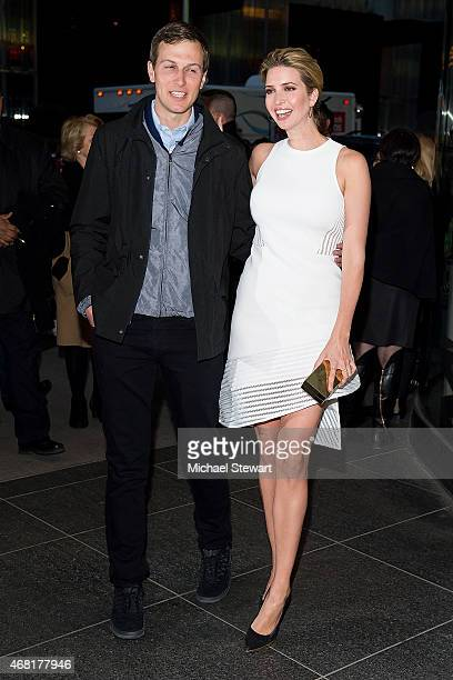 Jared Kushner and Ivanka Trump attend the 'Woman In Gold' New York Premiere at The Museum of Modern Art on March 30 2015 in New York City