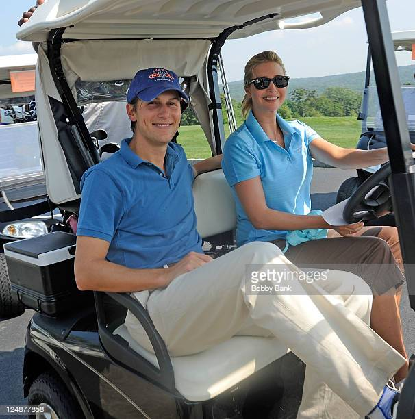 Jared Kushner and Ivanka Trump attends the 5th annual Eric Trump Foundation Golf Invitational at the Trump National Golf Club Westchester on...