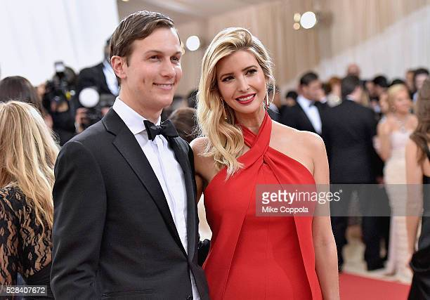 Jared Kushner and wife Ivanka Trump attend the 'Manus x Machina Fashion In An Age Of Technology' Costume Institute Gala at Metropolitan Museum of Art...