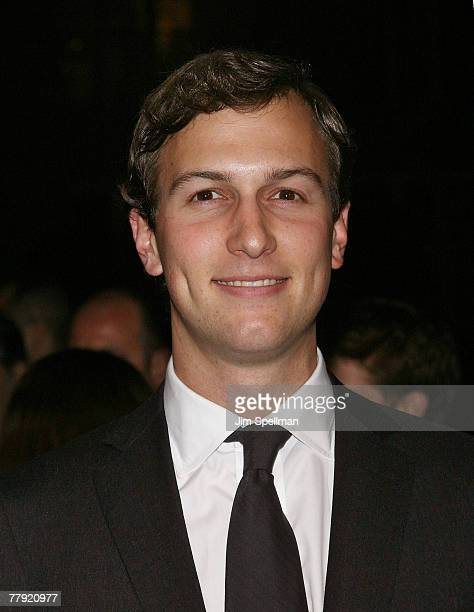 Jared Kushner arrives at the 'Awake' Premiere at Chelsea West Cinema on November 14 2007 in New York City