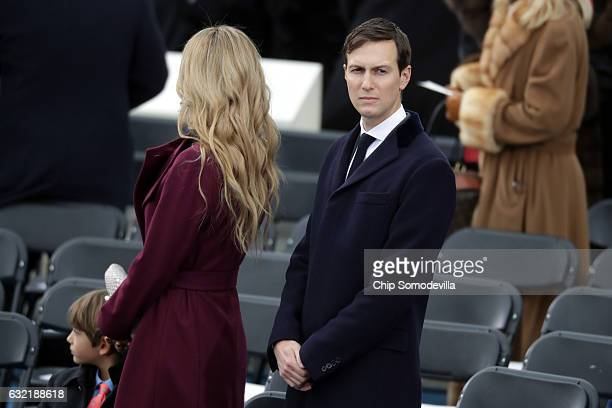 Jared Kushner arrives with Vanessa Trump on the West Front of the US Capitol on January 20 2017 in Washington DC In today's inauguration ceremony...