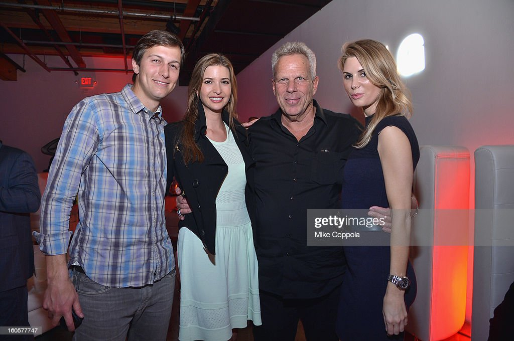 Jared Kushner, Ivanka Trump, Chairman and Executive Vice President of the New York Giants Steve Tisch and Jamie Tisch attend CAA Sports Super Bowl Party presented By LG at Contemporary Arts Center on February 2, 2013 in New Orleans, Louisiana.