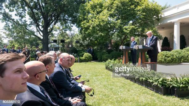 Jared Kushner Senior Advisor to President Trump H R McMaster US National Security Advisor Ambassador Robert Lighthizer US Trade Representative Gary...