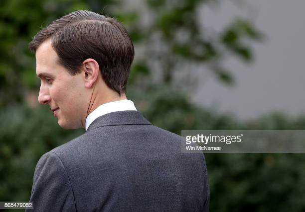 Jared Kushner senior advisor to US President Donald Trump attends a joint statemen in the Rose Garden held by US President Donald Trump and Singapore...