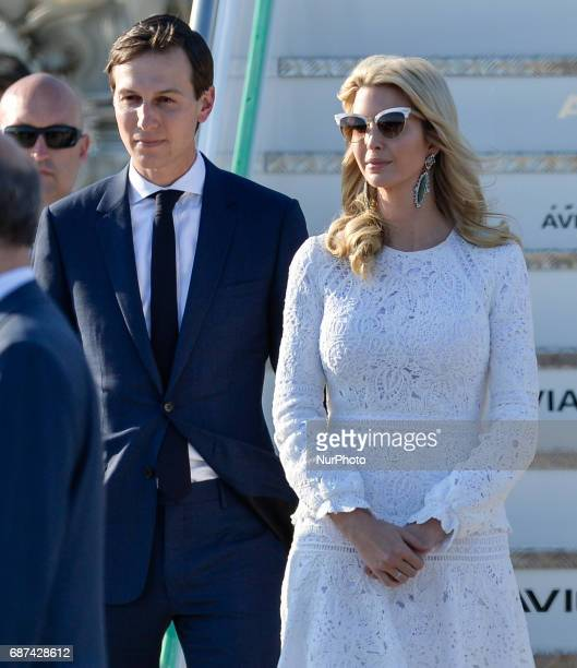 Jared Kushner senior White House adviser and Ivanka Trump assistant to US President Donald Trump in Airport Fiumicino in Rome on may 23 2017