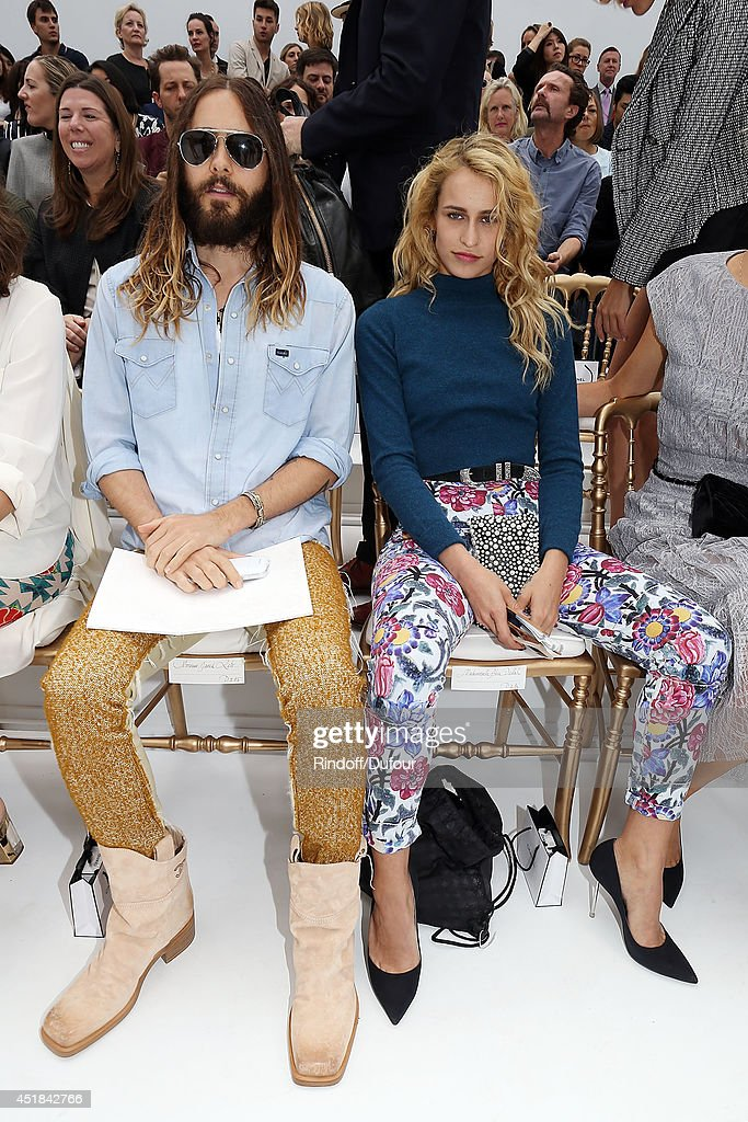<a gi-track='captionPersonalityLinkClicked' href=/galleries/search?phrase=Jared+Leto&family=editorial&specificpeople=214764 ng-click='$event.stopPropagation()'>Jared Leto</a> and <a gi-track='captionPersonalityLinkClicked' href=/galleries/search?phrase=Alice+Dellal&family=editorial&specificpeople=4261908 ng-click='$event.stopPropagation()'>Alice Dellal</a> attend the Chanel show as part of Paris Fashion Week - Haute Couture Fall/Winter 2014-2015 at Grand Palais on July 8, 2014 in Paris, France.