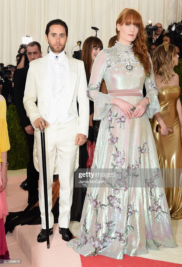 Jared Leto (L) and Florence Welch attends the 'Manus x Machina: Fashion In An Age Of Technology' Costume Institute Gala at Metropolitan Museum of Art on May 2, 2016 in New York City.