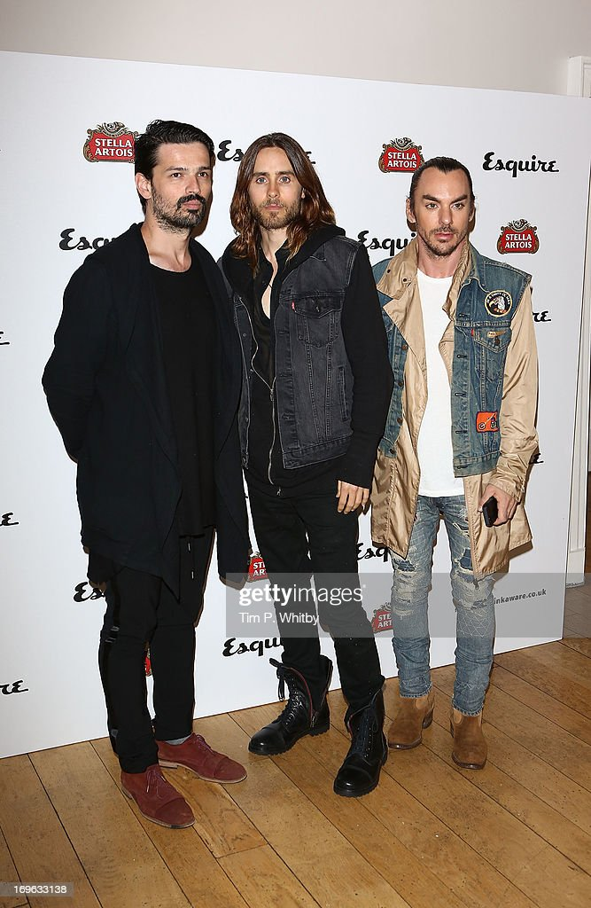 <a gi-track='captionPersonalityLinkClicked' href=/galleries/search?phrase=Jared+Leto&family=editorial&specificpeople=214764 ng-click='$event.stopPropagation()'>Jared Leto</a> (middle) and guests attend Esquire's first summer party at Somerset House on May 29, 2013 in London, England.