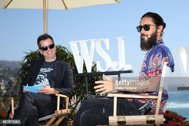 Jared Leto and Jason Gay speak onstage at DLUXE presented by WSJ Magazine at The Montage Laguna Beach on October 18 2017 in Laguna Beach California
