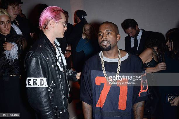 Jared Leto and Kanye West attend the Vogue 95th Anniversary Party Photocall as part of the Paris Fashion Week Womenswear Spring/Summer 2016 on...