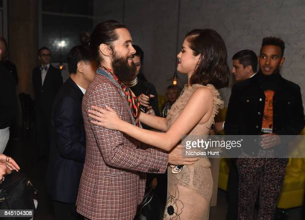 Jared Leto and Selena Gomez attend the #BoF500 party during New York Fashion Week Spring/Summer 2018 at Public Hotel on September 9 2017 in New York...