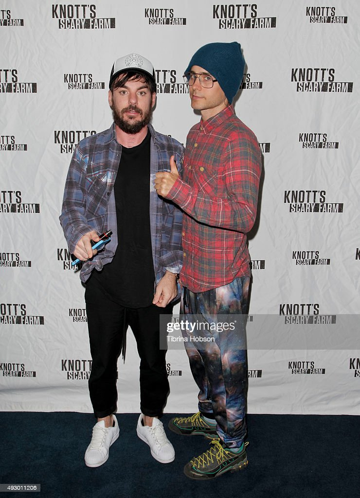 Jared Leto Visits Knott's Scary Farm