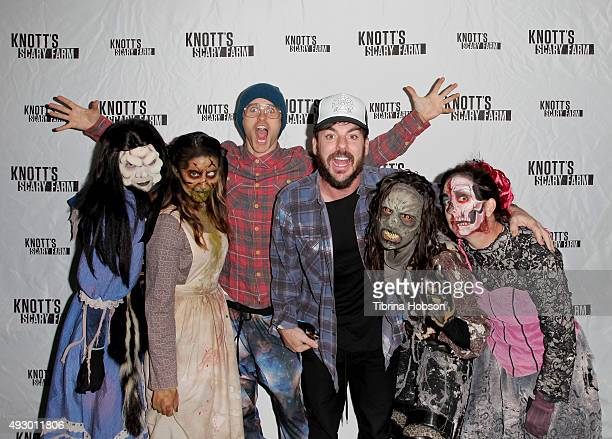 Jared Leto and Shannon Leto visit Knott's Scary Farm at Knott's Berry Farm on October 16 2015 in Buena Park California