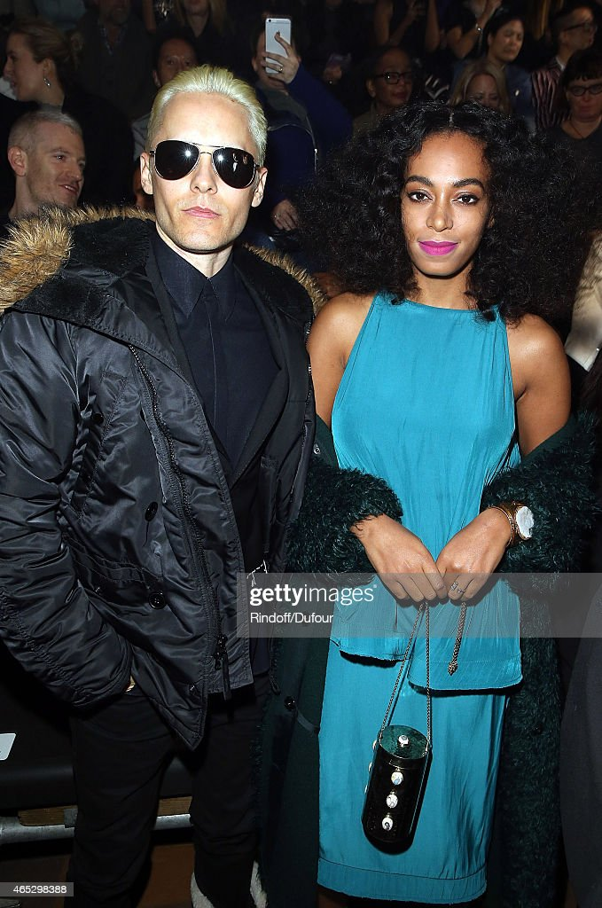 Jared Leto and Solange Knowles attend the Lanvin show as part of the Paris Fashion Week Womenswear Fall/Winter 2015/2016 on March 5, 2015 in Paris, France.