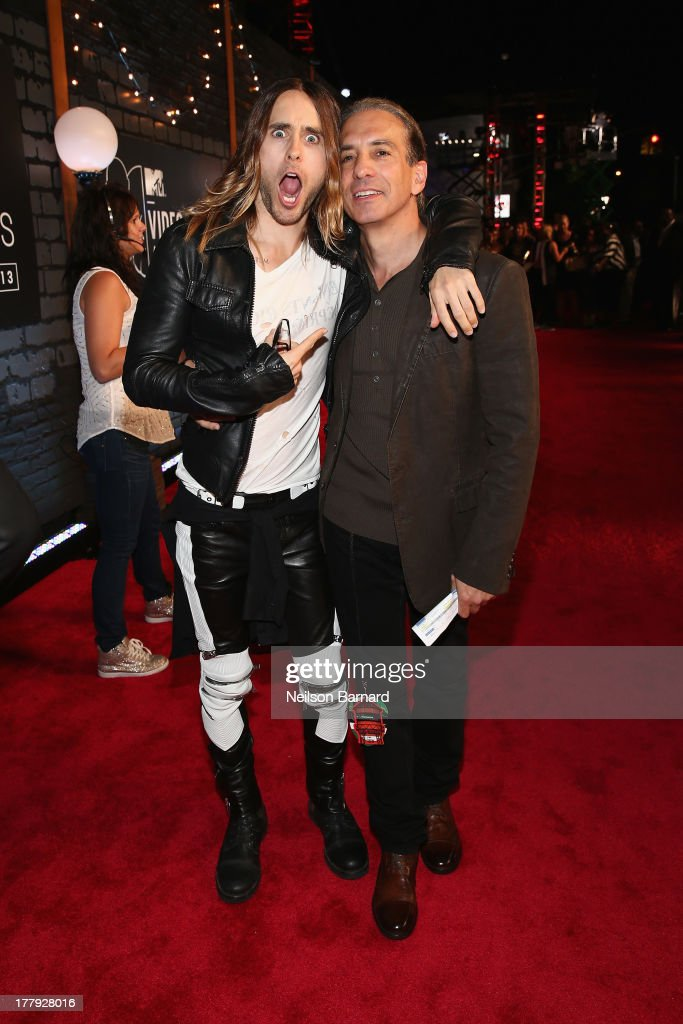 <a gi-track='captionPersonalityLinkClicked' href=/galleries/search?phrase=Jared+Leto&family=editorial&specificpeople=214764 ng-click='$event.stopPropagation()'>Jared Leto</a> and Viacom President of Music and Logo group <a gi-track='captionPersonalityLinkClicked' href=/galleries/search?phrase=Van+Toffler&family=editorial&specificpeople=595753 ng-click='$event.stopPropagation()'>Van Toffler</a> attends the 2013 MTV Video Music Awards at the Barclays Center on August 25, 2013 in the Brooklyn borough of New York City.