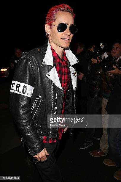 Jared Leto arrives at the Balmain After Show Party at 'Laperouse' restaurant as part of the Paris Fashion Week Womenswear Spring/Summer 2016 on...