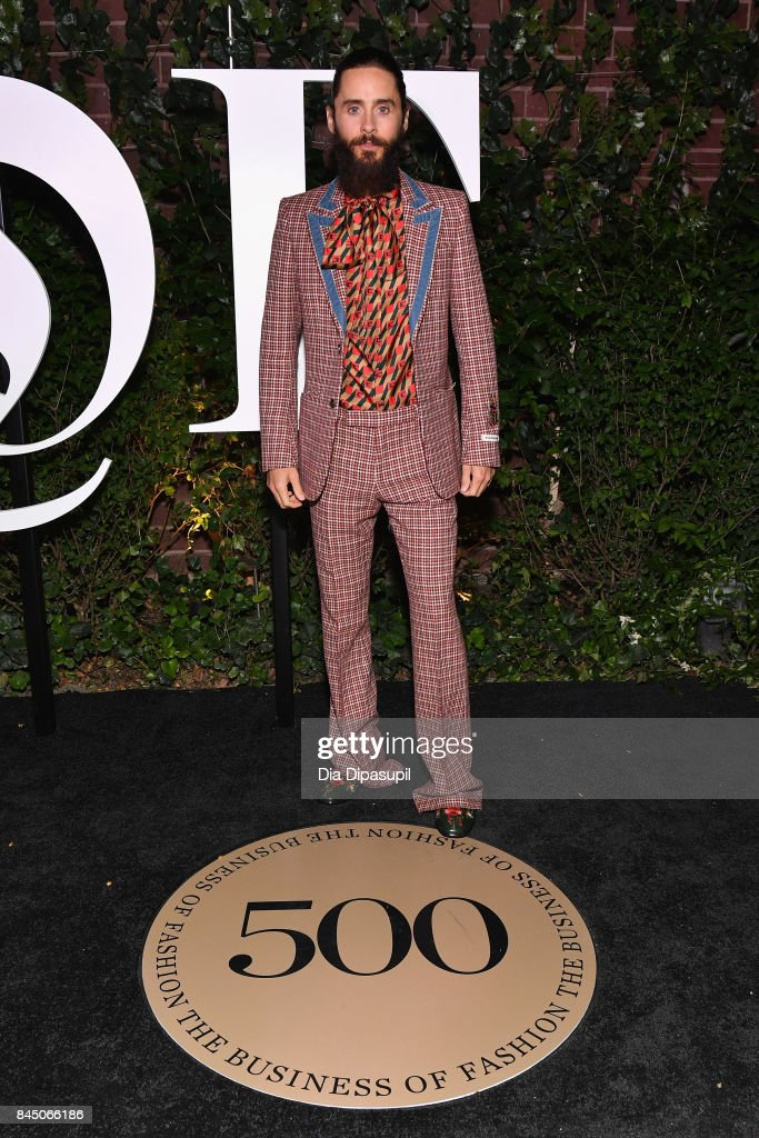 Jared Leto arrives at the #BoF500 gala dinner during New York Fashion Week Spring/Summer 2018 at Public Hotel on September 9, 2017 in New York City.