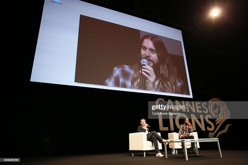 Jared Leto attends A Conversation With Benjamin Palmer during Cannes Lions Festival at the Palais des Festivals on June 18, 2014 in Cannes, France.