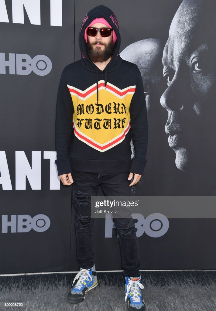 Jared Leto attends HBO's 'The Defiant Ones' premiere at Paramount Studios on June 22, 2017 in Los Angeles, California.