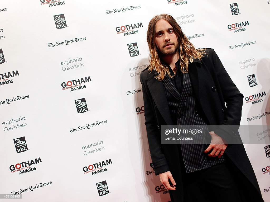 <a gi-track='captionPersonalityLinkClicked' href=/galleries/search?phrase=Jared+Leto&family=editorial&specificpeople=214764 ng-click='$event.stopPropagation()'>Jared Leto</a> attends IFP's 23nd Annual Gotham Independent Film Awards at Cipriani Wall Street on December 2, 2013 in New York City.