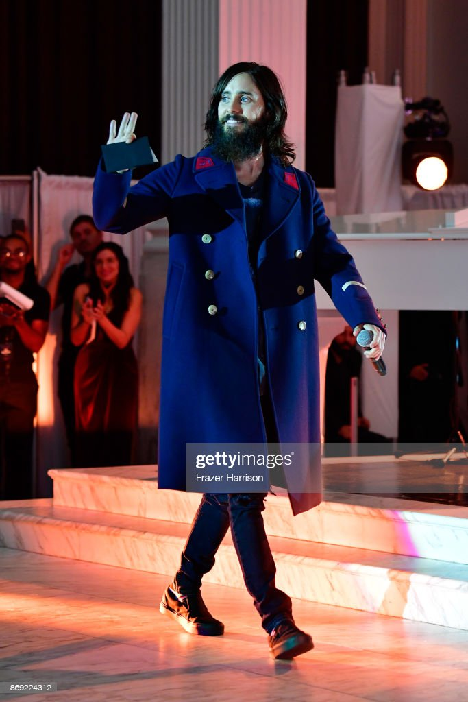 Jared Leto attends Spotify's Inaugural Secret Genius Awards hosted by Lizzo at Vibiana on November 1, 2017 in Los Angeles, California.