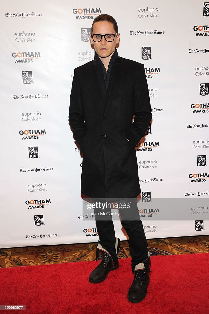 <a gi-track='captionPersonalityLinkClicked' href=/galleries/search?phrase=Jared+Leto&family=editorial&specificpeople=214764 ng-click='$event.stopPropagation()'>Jared Leto</a> attends the 22nd Annual Gotham Independent Film Awards at Cipriani Wall Street on November 26, 2012 in New York City.