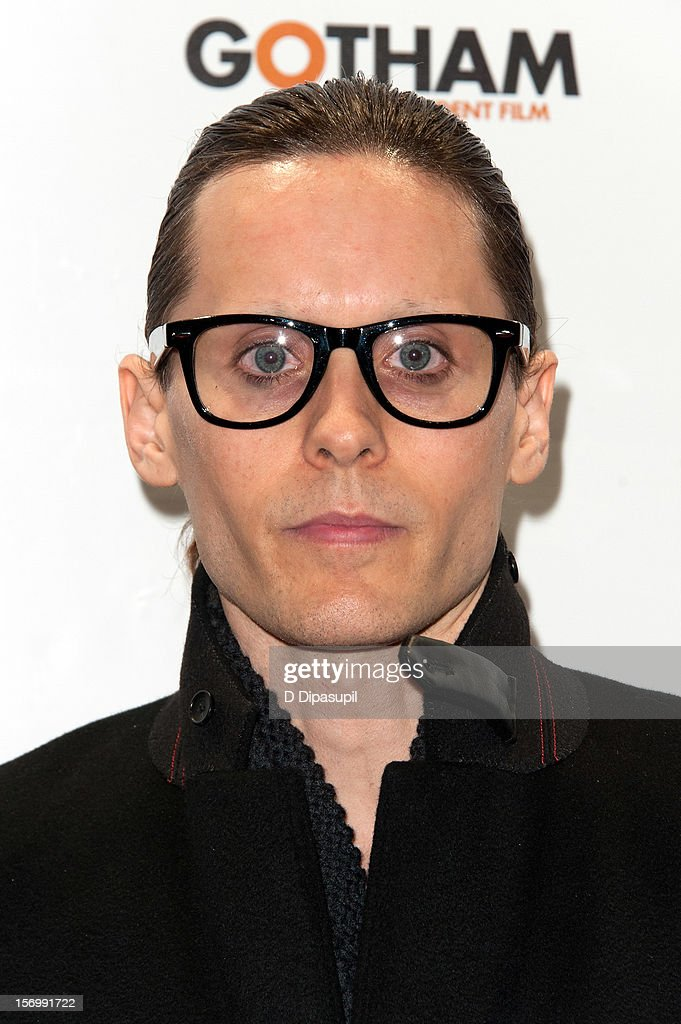 <a gi-track='captionPersonalityLinkClicked' href=/galleries/search?phrase=Jared+Leto&family=editorial&specificpeople=214764 ng-click='$event.stopPropagation()'>Jared Leto</a> attends the 22nd annual Gotham Independent Film awards at Cipriani, Wall Street on November 26, 2012 in New York City.