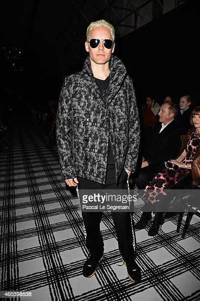 Jared Leto attends the Balenciaga show as part of the Paris Fashion Week Womenswear Fall/Winter 2015/2016 on March 6 2015 in Paris France