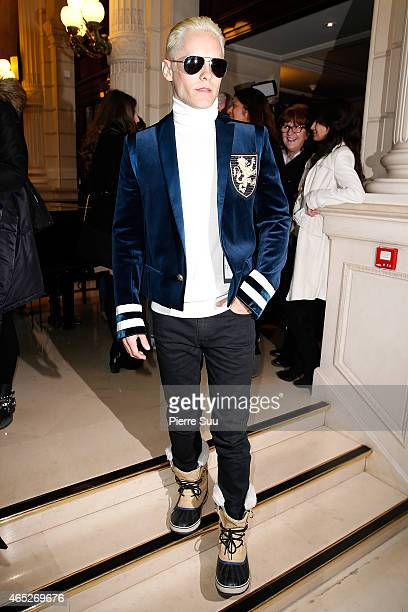 Jared Leto attends the Balmain show as part of the Paris Fashion Week Womenswear Fall/Winter 2015/2016 on March 5 2015 in Paris France