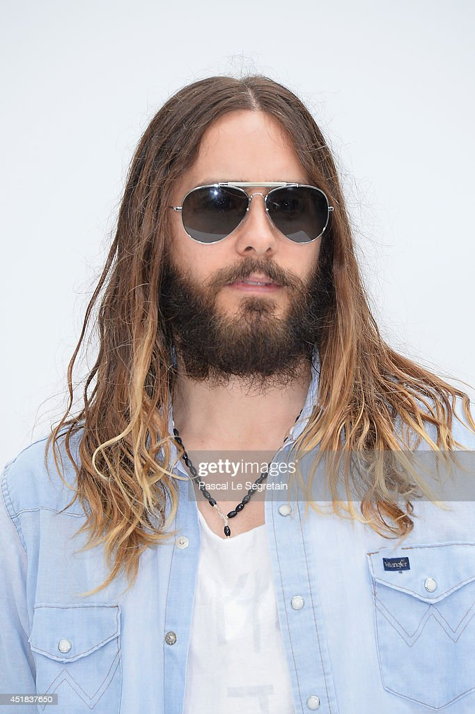 Jared Leto attends the Chanel show as part of Paris Fashion Week - Haute Couture Fall/Winter 2014-2015 at Grand Palais on July 8, 2014 in Paris, France.