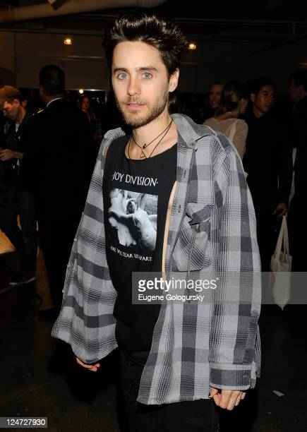 Jared Leto attends the Erickson Beamon The Redemption of Eve Return to the Garden at Milk Studios on September 11 2011 in New York City